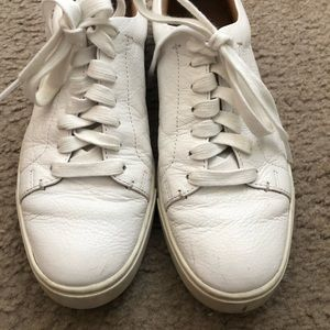 Frye Leather White Sneakers